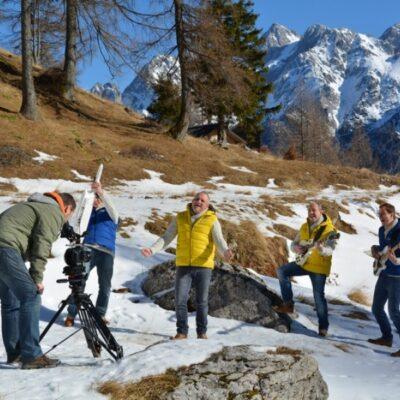 Video shoot with Folx TV, Triglav, Slovenia